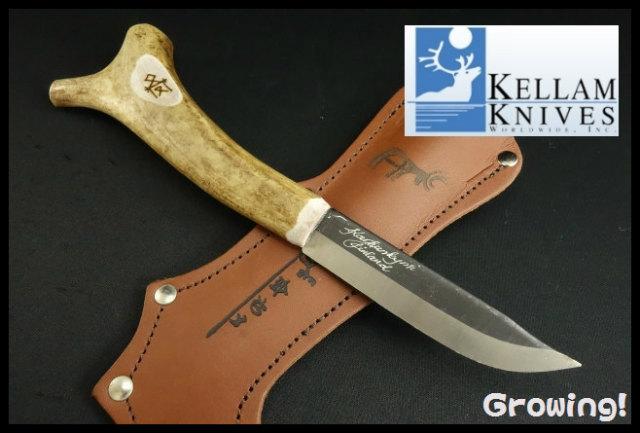 KELLAM KNIVES【ケラム ナイブス】■ サーミ レインディア 【カーボンスチール】【トナカイ】Sami Reindeer ラップナイフ